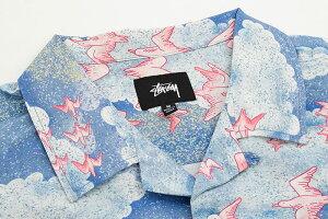 ステューシーSTUSSYシャツ半袖メンズCloudAndBirds(stussyshirtアロハシャツオープンカラーシャツカジュアルシャツトップスメンズ男性用111978USAモデル正規品ストゥーシースチューシー)icefiledicefield