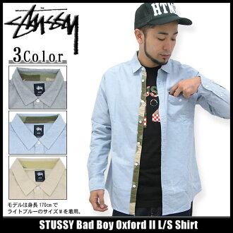 Stussy STUSSY 坏男孩牛津 2 袖衫 (stussy 衬衫衬衫男装,男装 111668 Stussy stussy Stussy Steacy) 提起冰原的冰