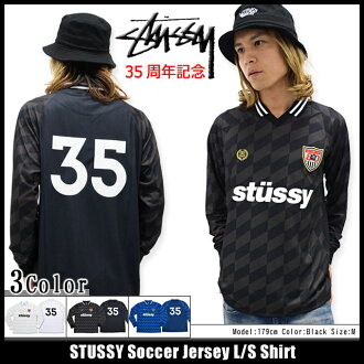 Stussy STUSSY shirt long sleeve men's Soccer Jersey (stussy shirt football shirt shirts V neck tops mens, mens 114814 Stussy stussy Stussy Steacy)