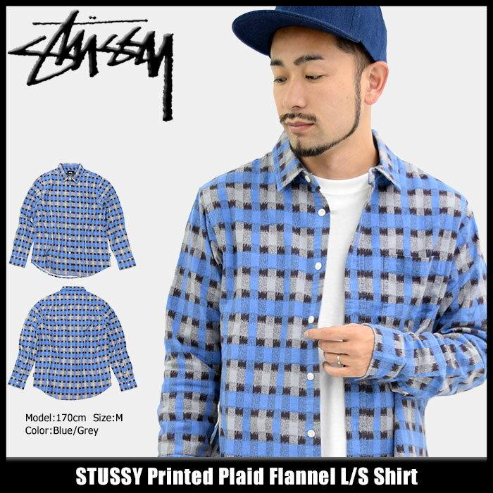 ステューシー STUSSY シャツ 長袖 メンズ Printed Plaid Flannel(stussy shirt ネルシャツ カジュアルシャツ トップス チェック メンズ・男性用 111942 USAモデル 正規 品 ストゥーシー スチューシー)