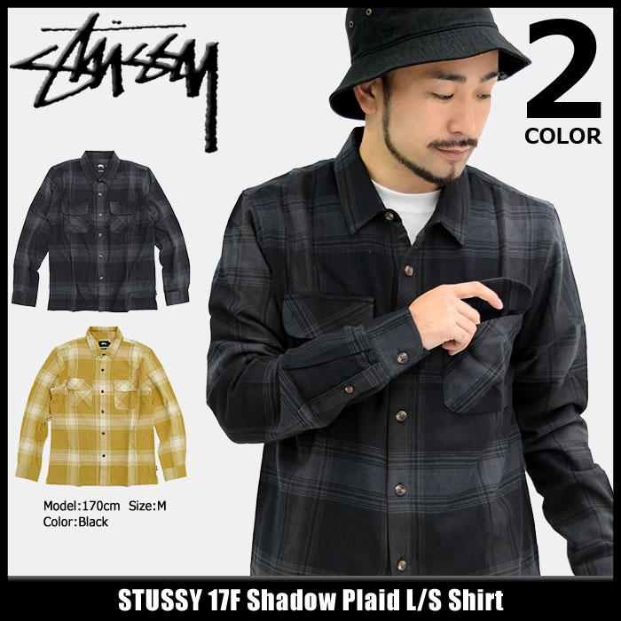 ステューシー STUSSY シャツ 長袖 メンズ 17F Shadow Plaid(stussy shirt チェック カジュアルシャツ トップス メンズ・男性用 111934 ストゥーシー スチューシー) ice filed icefield
