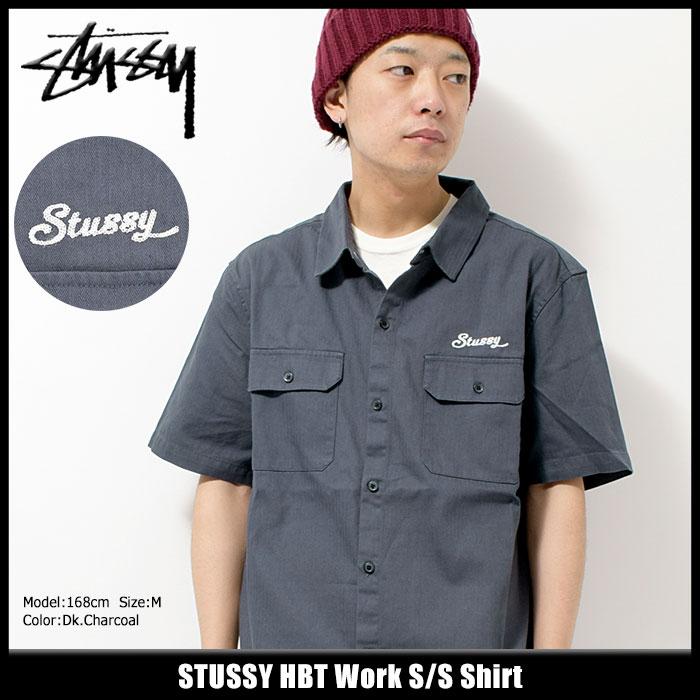 ステューシー STUSSY シャツ 半袖 メンズ HBT Work(stussy shirt ワークシャツ カジュアルシャツ トップス メンズ 男性用 111977 ストゥーシー スチューシー) ice filed icefield