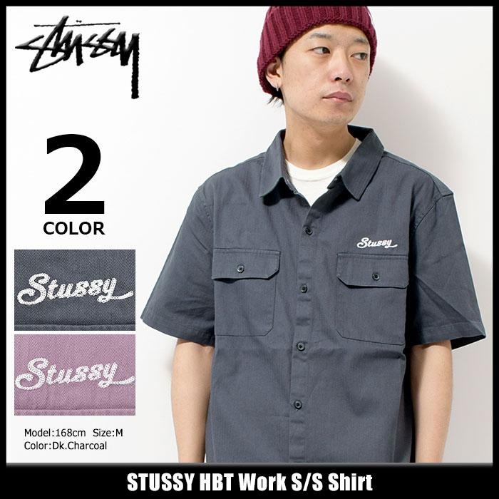 ステューシー STUSSY シャツ 半袖 メンズ HBT Work(stussy shirt ワークシャツ カジュアルシャツ トップス メンズ 男性用 111977 USAモデル 正規 品 ストゥーシー スチューシー) ice filed icefield