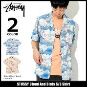 ステューシーSTUSSYシャツ半袖メンズCloudAndBirds(stussyshirtオープンカラーシャツカジュアルシャツトップスメンズ男性用111978ストゥーシースチューシー)icefiledicefield