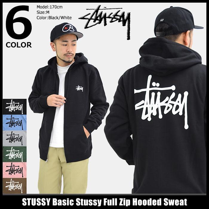 ステューシー STUSSY パーカー ジップアップ メンズ Basic Stussy(stussy full zip hooded sweat パーカー フード フーディ トップス Zip up Hoody Parker フルジップ ベーシック メンズ・男性用 1974143 1974105 ストゥーシー スチューシー)