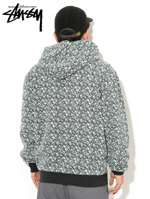 ステューシーSTUSSYプルオーバーパーカーメンズVintageBones(stussyPulloverHoodieフードフーディスウェットPullOverHoodyParkerトップスメンズ男性用118330USAモデル正規品ストゥーシースチューシー)icefiledicefield