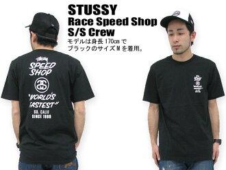 Stussy STUSSY 种族速度店衬衫短袖 (stussy 船员切割和缝制男人的 0141243 Steacy) 提起冰原的冰