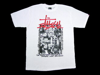 suteyushi STUSSY×FUTURA LABORATORIES Collage T恤短袖协作(供stussy tee T恤T-SHIRTS toppufuyuchuraraboratorizu W姓名人、男性使用的3902181朱熹)ice filed icefield