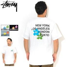 ステューシー STUSSY Tシャツ 半袖 メンズ City Flowers ( stussy tee ティーシャツ T-SHIRTS カットソー トップス メンズ・男性用 1904536 USAモデル 正規 品 ストゥーシー スチューシー )[M便 1/1] ice field icefield