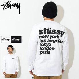 ステューシー STUSSY Tシャツ 長袖 メンズ Italic ( stussy tee ティーシャツ T-SHIRTS カットソー トップス ロング ロンティー ロンt メンズ・男性用 1994493 USAモデル 正規 品 ストゥーシー スチューシー ) ice field icefield