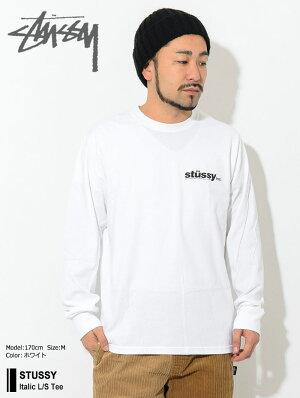 ステューシーSTUSSYTシャツ長袖メンズItalic(stussyteeティーシャツT-SHIRTSカットソートップスロングロンティーロンtメンズ・男性用1994493USAモデル正規品ストゥーシースチューシー)icefieldicefield