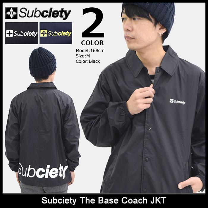 サブサエティ Subciety ジャケット メンズ ザ ベース コーチジャケット(subciety サブサエティー The Base Coach JKT ナイロンジャケット JACKET JAKET アウター コーチ ジャンパー・ブルゾン 105-60017)