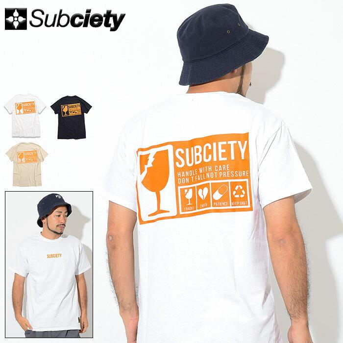 サブサエティ Subciety Tシャツ 半袖 メンズ ブランド(subciety サブサエティー Brand S/S Tee ティーシャツ T-SHIRTS カットソー トップス 107-40331)[M便 1/1]