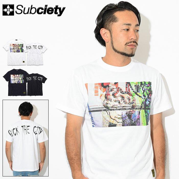 サブサエティ Subciety Tシャツ 半袖 メンズ ワープド(subciety サブサエティー Warped S/S Tee ティーシャツ T-SHIRTS カットソー トップス 107-40329)[M便 1/1]