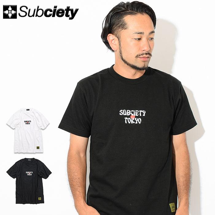 サブサエティ Subciety Tシャツ 半袖 メンズ ジャパニーズ(subciety サブサエティー Japanese S/S Tee ティーシャツ T-SHIRTS カットソー トップス 107-40330)[M便 1/1]