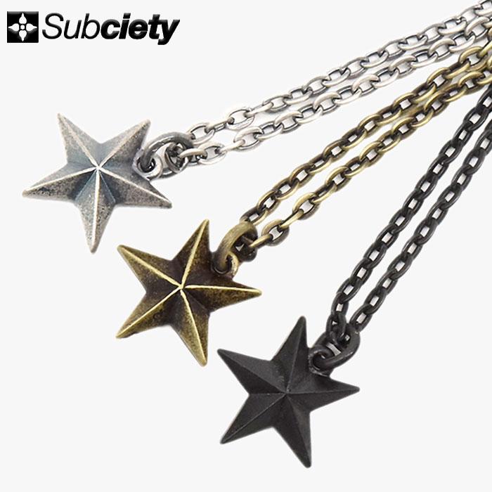 サブサエティ Subciety ネックレス メンズ ガイダンス メタル(subciety サブサエティー Guidance Metal Necklace アクセサリー 104-94246)