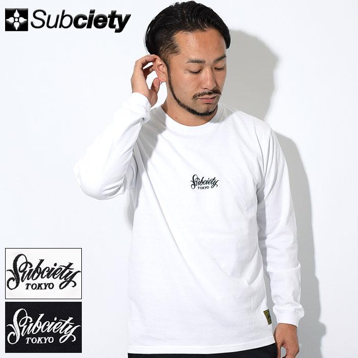 サブサエティ Subciety Tシャツ 長袖 メンズ プライマル(subciety サブサエティー Primal L/S Tee ティーシャツ T-SHIRTS トップス ロング ロンティー ロンt 107-44327)