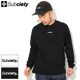 サブサエティ Subciety Tシャツ 長袖 メンズ シェイプ ( subciety サブサエティー Shape L/S Tee ティーシャツ T-SHIRTS トップス ロング ロンティー ロンt 101-44460 )