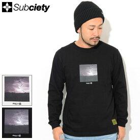 サブサエティ Subciety Tシャツ 長袖 メンズ ドゥームズデイ ( subciety サブサエティー Doomsday L/S Tee ティーシャツ T-SHIRTS トップス ロング ロンティー ロンt 101-44463 )