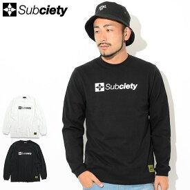 サブサエティ Subciety Tシャツ 長袖 メンズ ザ ベース ( subciety サブサエティー The Base L/S Tee ティーシャツ T-SHIRTS トップス ロング ロンティー ロンt 105-44019 )