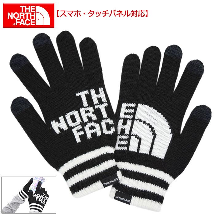 ザ ノースフェイス THE NORTH FACE 手袋 ビッグ ロゴ イーニット グローブ(the north face Big Logo E-Knit Glove スマートフォン対応 手ぶくろ メンズ レディース ユニセックス 男女兼用 NN61718 ザ・ノース・フェイス THE・NORTHFACE) ice filed icefield