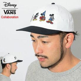 バンズ VANS キャップ ディズニー ミッキー 90th ジョッキー ミッキー スルー ジ エイジ コラボ ( vans×Disney Mickeys 90th Jockey Mickey Cap Wネーム ストラップバック 帽子 メンズ レディース ユニセックス 男女兼用 VN0A3HZAXH6 ヴァンズ )