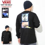 バンズVANSTシャツ長袖メンズダニエルルッソコラボ(vans×DanielRussoL/STeeWネームティーシャツT-SHIRTSロングロンティーロンtカットソートップスメンズ男性用VN0A3HVBBLKヴァンズ)icefiledicefield