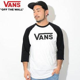 バンズ VANS ラグラン 七分袖 メンズ クラシック(vans Classic 3/4 Raglan ティーシャツ T-SHIRTS カットソー トップス カットソー トップス 7分袖 メンズ 男性用 VN0002QQYB2 ヴァンズ) ice filed icefield