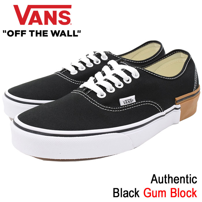 バンズ VANS スニーカー メンズ 男性用 オーセンティック Black ガムブロック(vans VN-0A38EMU57 Authentic Gum Block ローカット ブラック 黒 SNEAKER MENS・靴 シューズ SHOES ヴァンズ)