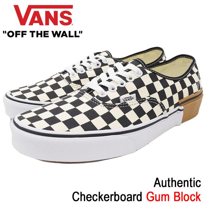 バンズ VANS スニーカー メンズ 男性用 オーセンティック Checkerboard ガムブロック(vans VN-0A38EMU58 Authentic Gum Block ローカット チェッカーボード SNEAKER MENS・靴 シューズ SHOES ヴァンズ)