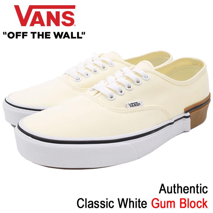 バンズ VANS スニーカー メンズ 男性用 オーセンティック Classic White ガムブロック(vans VN-0A38EMU59 Authentic Gum Block ローカット ホワイト 白 SNEAKER MENS・靴 シューズ SHOES ヴァンズ)