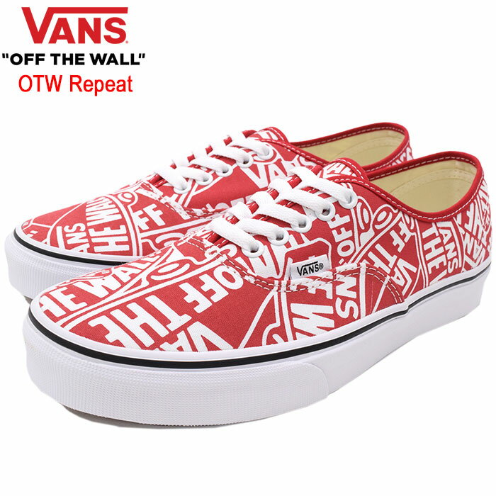 バンズ VANS スニーカー メンズ 男性用 UA オーセンティック Red/True White OTW リピート(vans VN-0A38EMUKL UA Authentic OTW Repeat ローカット レッド 赤 SNEAKER MENS・靴 シューズ SHOES ヴァンズ)