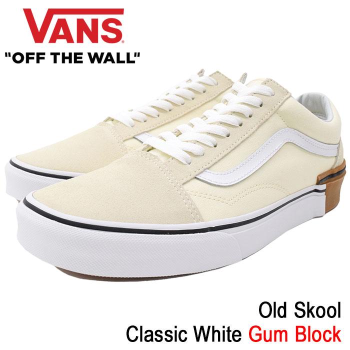 バンズ VANS スニーカー メンズ 男性用 オールドスクール Classic White ガムブロック(vans VN-0A38G1U59 Old Skool Gum Block ローカット ホワイト 白 SNEAKER MENS・靴 シューズ SHOES ヴァンズ)