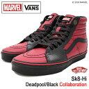 バンズ VANS スニーカー メンズ 男性用 マーベル スケートハイ Deadpool/Black コラボ(VN0A38GEUBJ VANS×MARVEL Sk8-Hi デッドプール …