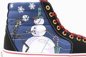 バンズVANSスニーカーレディース&メンズナイトメアービフォアクリスマススケートハイChristmastownコラボ(VN0A4BV6T33VANS×TheNightmareBeforeChristmasSk8-HiDisneyディズニーSNEAKERLADIESMENS靴シューズSHOESヴァンズ)