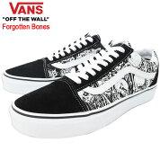バンズVANSスニーカーメンズ男性用オールドスクールBlack/TrueWhiteフォーガットンボーンズ(vansVN0A4BV5V8VOldSkoolForgottenBonesローカットブラック黒SNEAKERMENS・靴シューズSHOESヴァンズ)