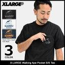 エクストララージ X-LARGE Tシャツ 半袖 メンズ ウォーキング エイプ ポケット(x-large Walking Ape Pocket S/S Tee ティーシャツ T-SHIRTS カットソ