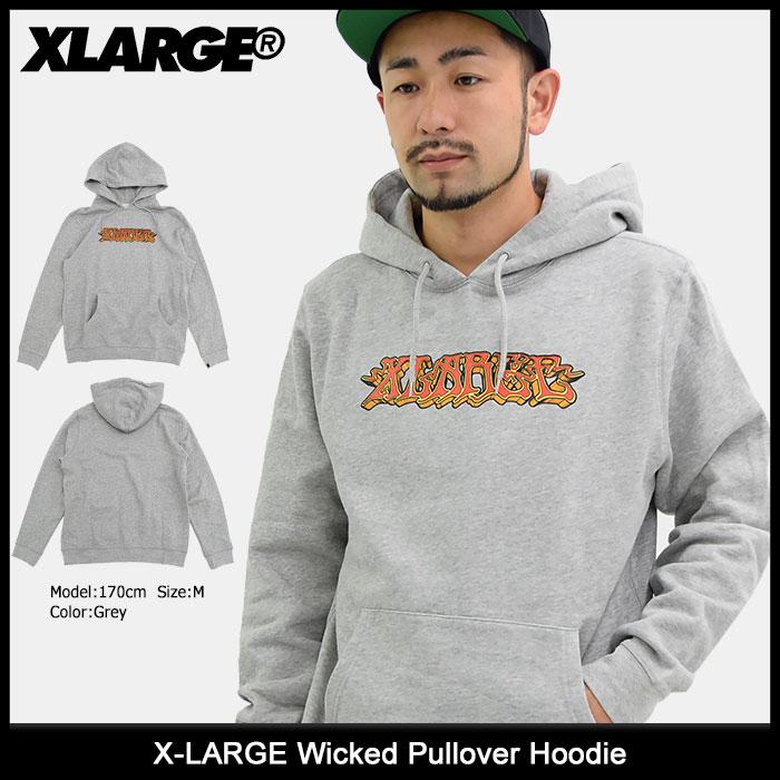 エクストララージ X-LARGE プルオーバー パーカー メンズ ウィケッド(x-large Wicked Pullover Hoodie フード フーディ トップス Pull Over Hoody Parker XLARGE Extra Large エックスラージ M17C2104)