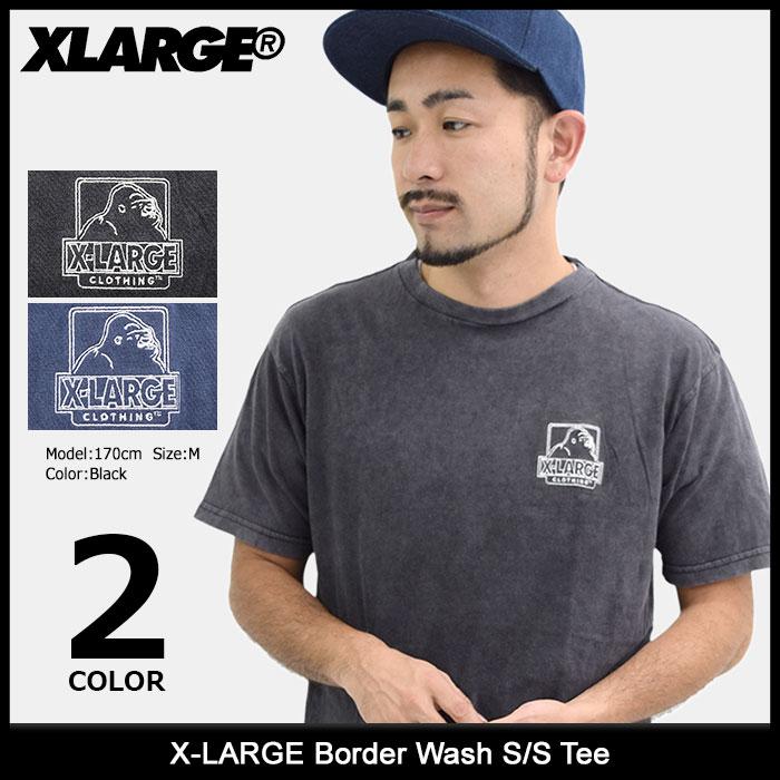 【アウトレット(不良箇所あり)】エクストララージ X-LARGE Tシャツ 半袖 メンズ ボーダー ウォッシュ(x-large Border Wash S/S Tee ティーシャツ T-SHIRTS カットソー トップス XLARGE Extra Large エックスラージ M17C1301)[M便 1/1] ice filed icefield