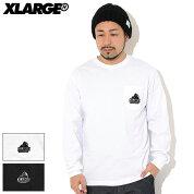 エクストララージX-LARGETシャツ長袖メンズエンブロイダリースランテッドOGポケット(X-LARGEEmbroiderySlantedOGPocketL/STeeポケTティーシャツT-SHIRTSロングロンティーロンtトップスXLARGEExtraLargeエックスラージ101203011018)