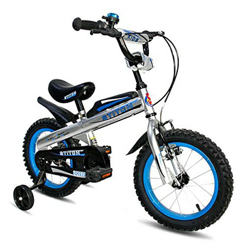 Cyfie 子供用自転車 ナイト 泥除け付き 補助輪付き 滑り止めハンドル付き 格好いい 簡単に安装 安全 丈夫 二つブレーキ 二つサドル