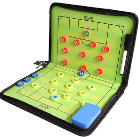 サッカー作戦ボード コーチボード タクティックボード 折り畳み式 ファスナータイプ 作戦盤 指導 打合せ コンパクト