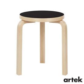 [ ARTEK(アルテック)] スツール60 (椅子) 3本脚 ブラックリノリウム Stool60