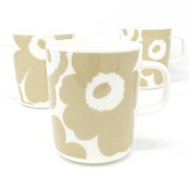 marimekko マリメッコ マグカップ UNIKKO No.180 (ホワイト×ベージュ)