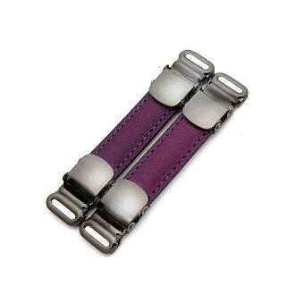 清凉的措施袖标 & 衬衫吊袜带皮革使用 (buttero 紫色)
