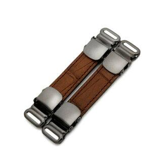 袖章&衬衫吊袜带书皮革使用(鳄鱼型推巧克力)