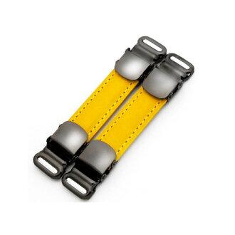 队长袖标 & 衬衫吊袜带皮革是使用 (buttero 黄)