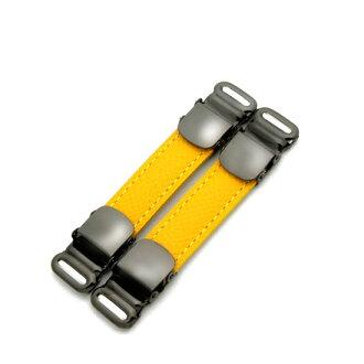 清凉的措施袖标 & 衬衫吊袜带皮革使用 (切尔克斯黄色)