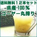 【送料無料】【ご予約受付中。6月中旬の発送予定!】 沖縄県産ゴーヤー100%ジュースゴーヤー原液500ml×12本セット 無…