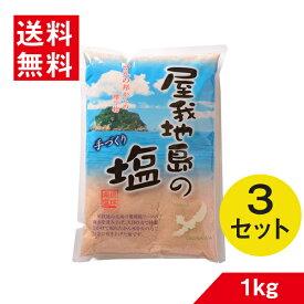 沖縄 塩 屋我地島の塩 詰替え 1kg×3個